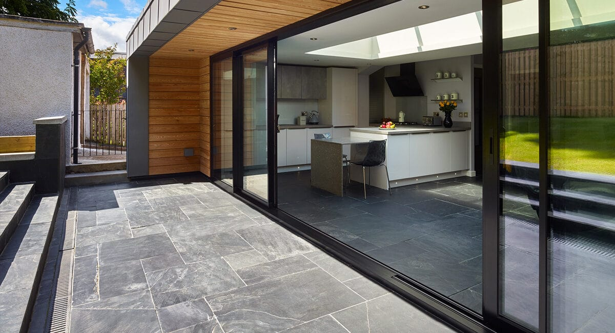 Contemporary extension to Scottish home