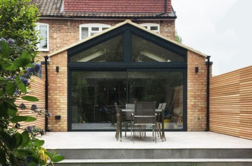 SVG30 sliding door and gable end glazing installed in Hammersmith