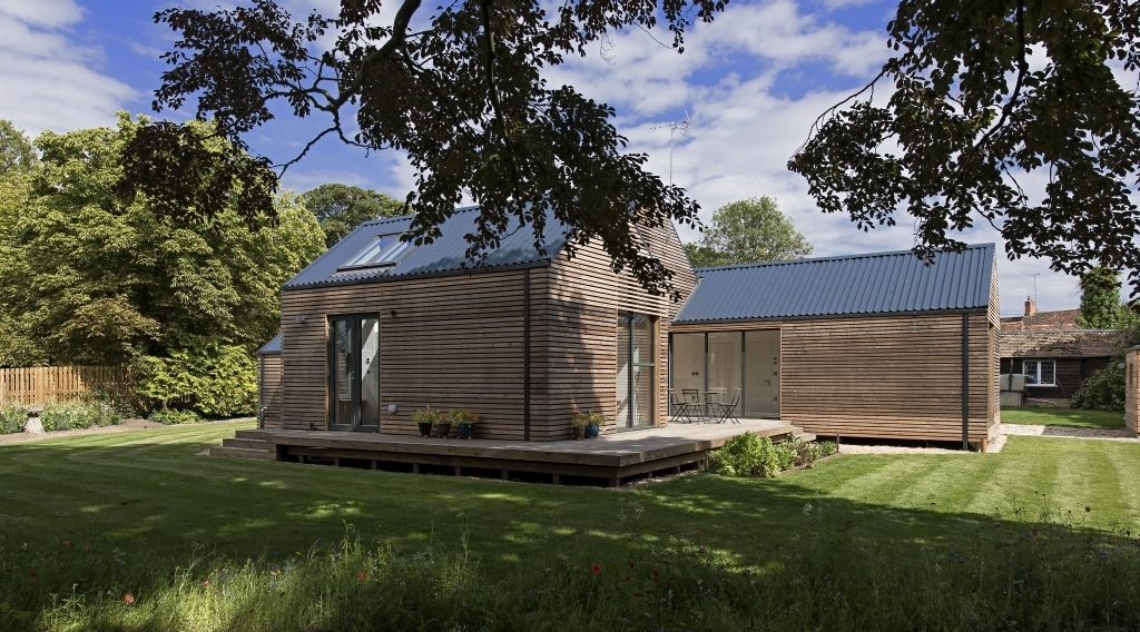 modern house with bifold doors in daytime