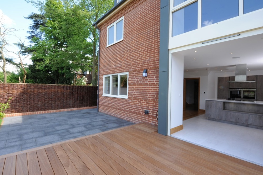 open patio doors leading on to decking