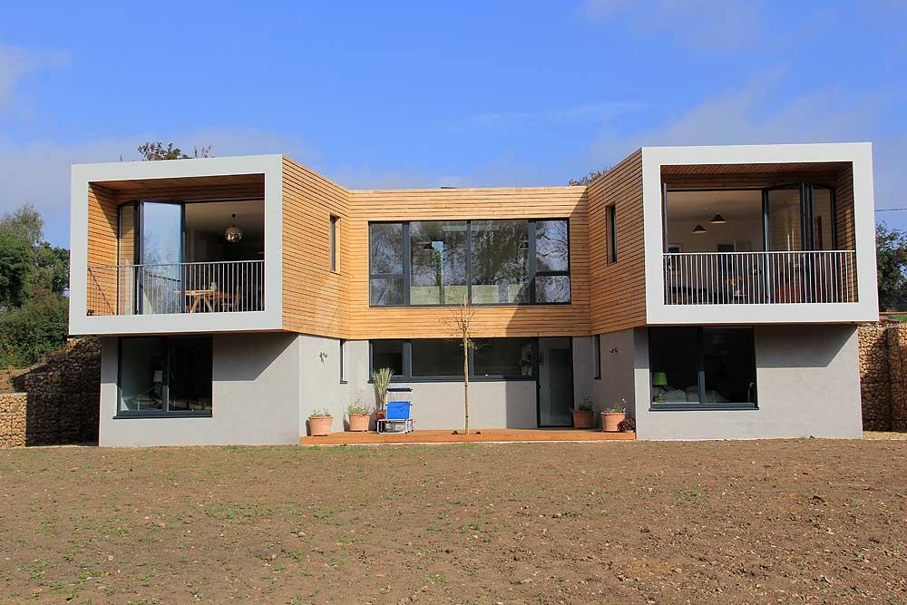 periscope house with bifolding doors