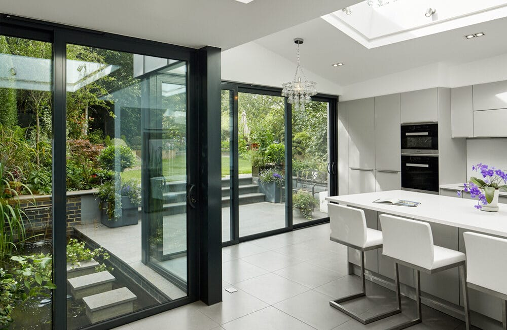 An eye-catching North London zinc-clad extension