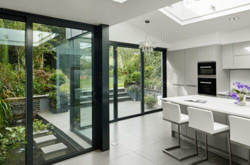 sliding doors kitchen