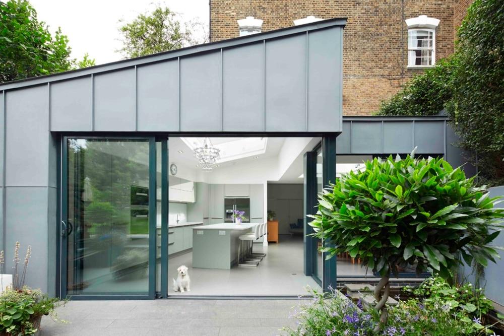 kitchen with sliding patio doors