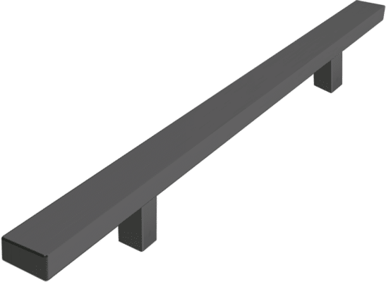 Standard colour rectangular feature handle