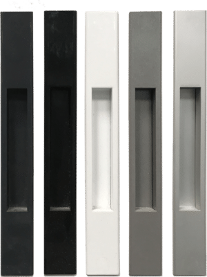 Colour matched recessed handle