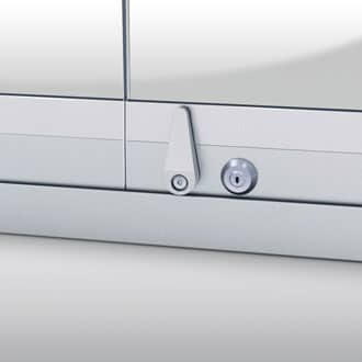 Optionally a handle, and locking mechanism can be fitted to the panel internally and externally.