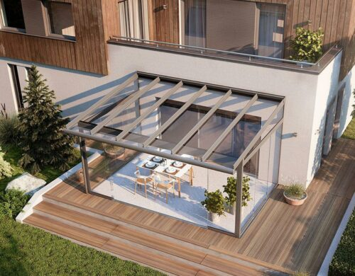 patio terrace glass roof