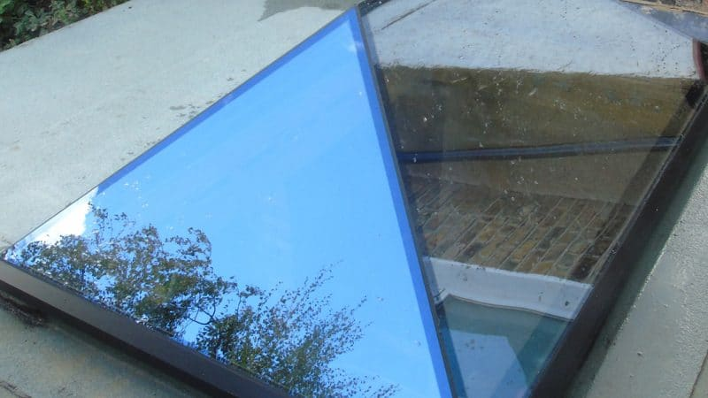 Contemporary glass roof lanterns