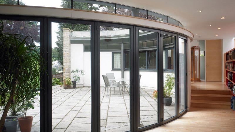 Unique SUNFLEX faceted bifold doors