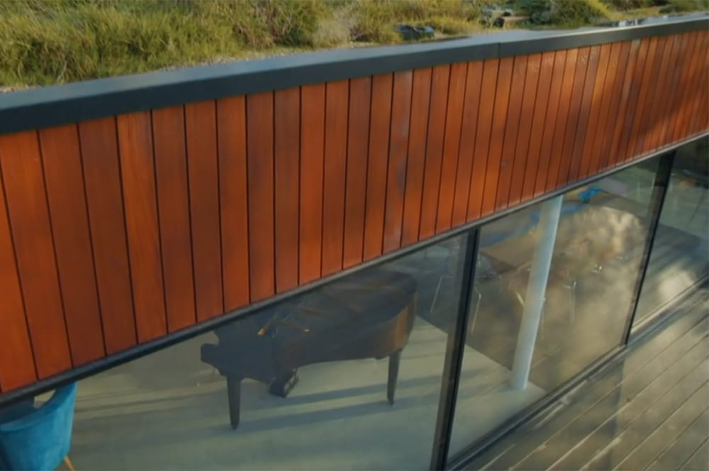 SVG30 sliding doors under timber cladding